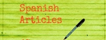 Spanish Articles