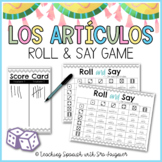 Spanish Articles Game Activity - Roll & Say