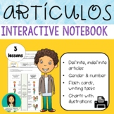Spanish Articles, Gender & Number With Interactive Noteboo