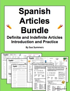 Spanish Articles Introduction and Practice Bundle of 6 - D