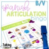 Spanish Articulation Bingo for B V words