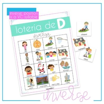 Spanish Articulation Bingo for D words