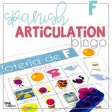 Spanish Articulation Bingo for F words