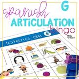 Spanish Articulation Bingo for G words