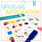 Spanish Articulation Bingo for K words