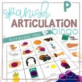 Spanish Articulation Bingo for P words
