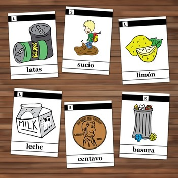 Spanish Articulation Cards