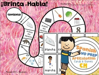 Spanish Articulation Cards and Games -- CH