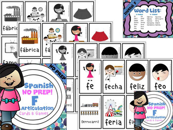 Spanish Articulation Cards and Games -- F