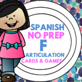 Spanish Speech Therapy - Articulation Cards and Games -- F