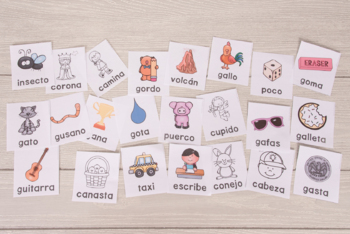 Spanish Speech Therapy - Articulation Cards and Games -- K and G - NO PREP