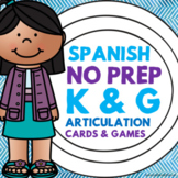 Spanish Speech Therapy - Articulation Cards and Games -- K
