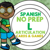 Spanish Speech Therapy Articulation Cards and Games -- L a