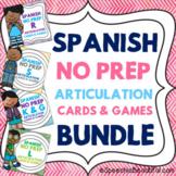 Spanish Articulation Cards & Games -- NO PREP {BUNDLE}
