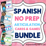 Spanish Speech Therapy - Articulation Cards & Games -- NO PREP {BUNDLE}