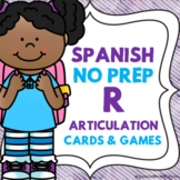 Spanish Speech Therapy - Articulation Cards and Games -- R