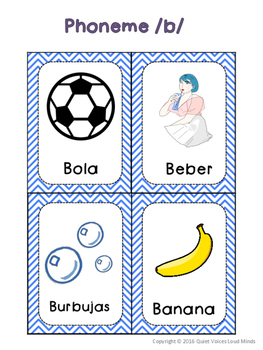 Spanish Articulation Cards: /b/ in Initial Position