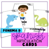 Spanish Articulation D Cards for All Word Positions (Speech Therapy)