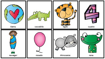 Spanish Articulation Flash Cards: T, D, N