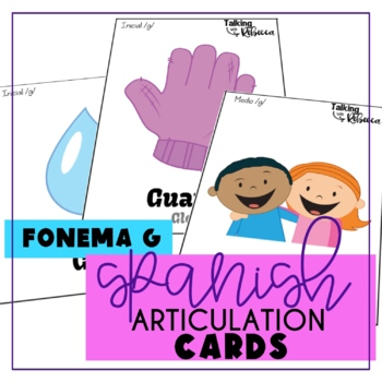 Spanish Speech Therapy Articulation G Cards for All Word Positions