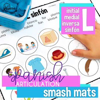 No and Low Prep Spanish Speech Therapy Articulation L Smash Mats