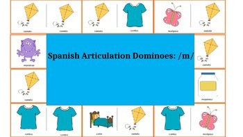 Spanish Articulation & Language Dominoes: /m/