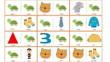 Spanish Articulation & Language Dominoes: /t/