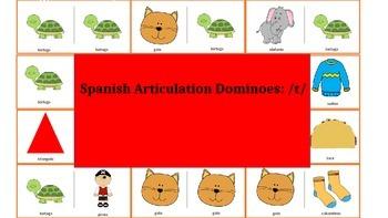 Spanish Articulation & Language Dominoes: /t/