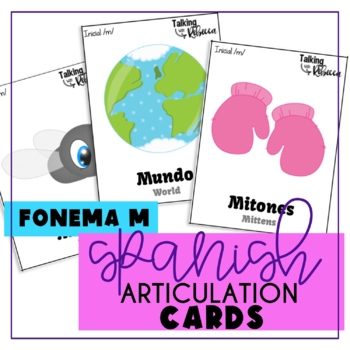 Spanish Speech Therapy Articulation M Cards for All Word Positions
