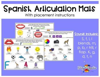 Spanish Articulation Mats