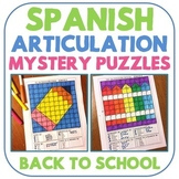 Spanish Articulation Mystery Puzzles - Back to School