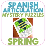 Spanish Articulation Mystery Puzzles - Spring