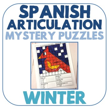 Spanish Articulation Mystery Puzzles - Winter