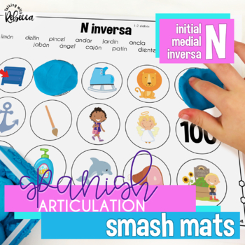 Spanish Speech Therapy Articulation N Smash Mats