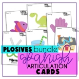 Spanish Articulation Cards Plosives Bundle (Speech Therapy)