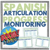 Spanish Articulation Progress Monitoring Boom Card Bundle Edition