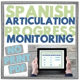 Spanish Articulation Progress Monitoring - No Print Intera