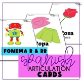 Spanish Articulation R Cards for Speech Therapy