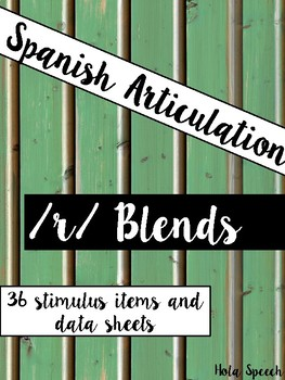 Spanish Articulation R Blends