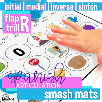 Spanish Articulation R Smash Mats for Speech Therapy