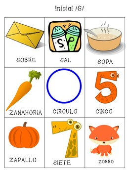 Spanish Articulation /s/ Cards