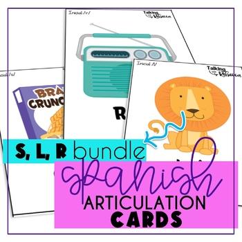 Spanish Articulation Cards S, L, R Bundle