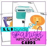 Spanish Articulation Cards for Speech Therapy: S, L, R Bundle