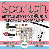 Spanish Articulation Screener & Informal Assessment