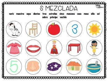 Spanish Speech Therapy Articulation Smash Mats Bundle S R and L