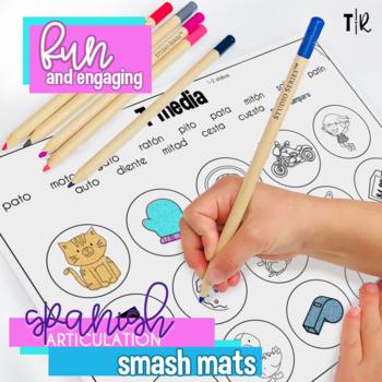Spanish Speech Therapy Articulation T Smash Mats