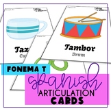 Speech Therapy in Spanish Articulation T Cards for All Word Positions