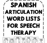 Spanish Speech Therapy - Articulation Word Lists for Speec