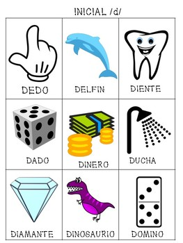Spanish Articulation /d/ Cards