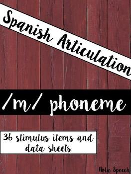 Spanish Articulation /m/ Cards
